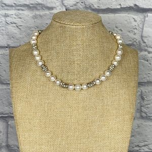 VTG Sterling silver and cultured pearls necklace